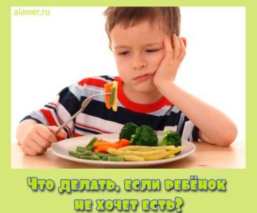 ребёнок не хочет есть